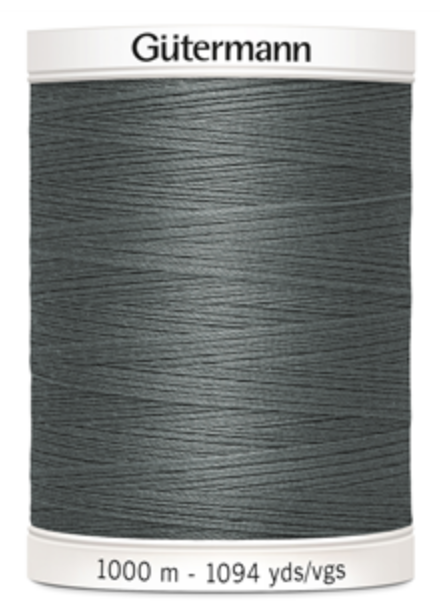 GREY Colour 38 Gutermann Sew-all Thread 1000m 100/% Polyester