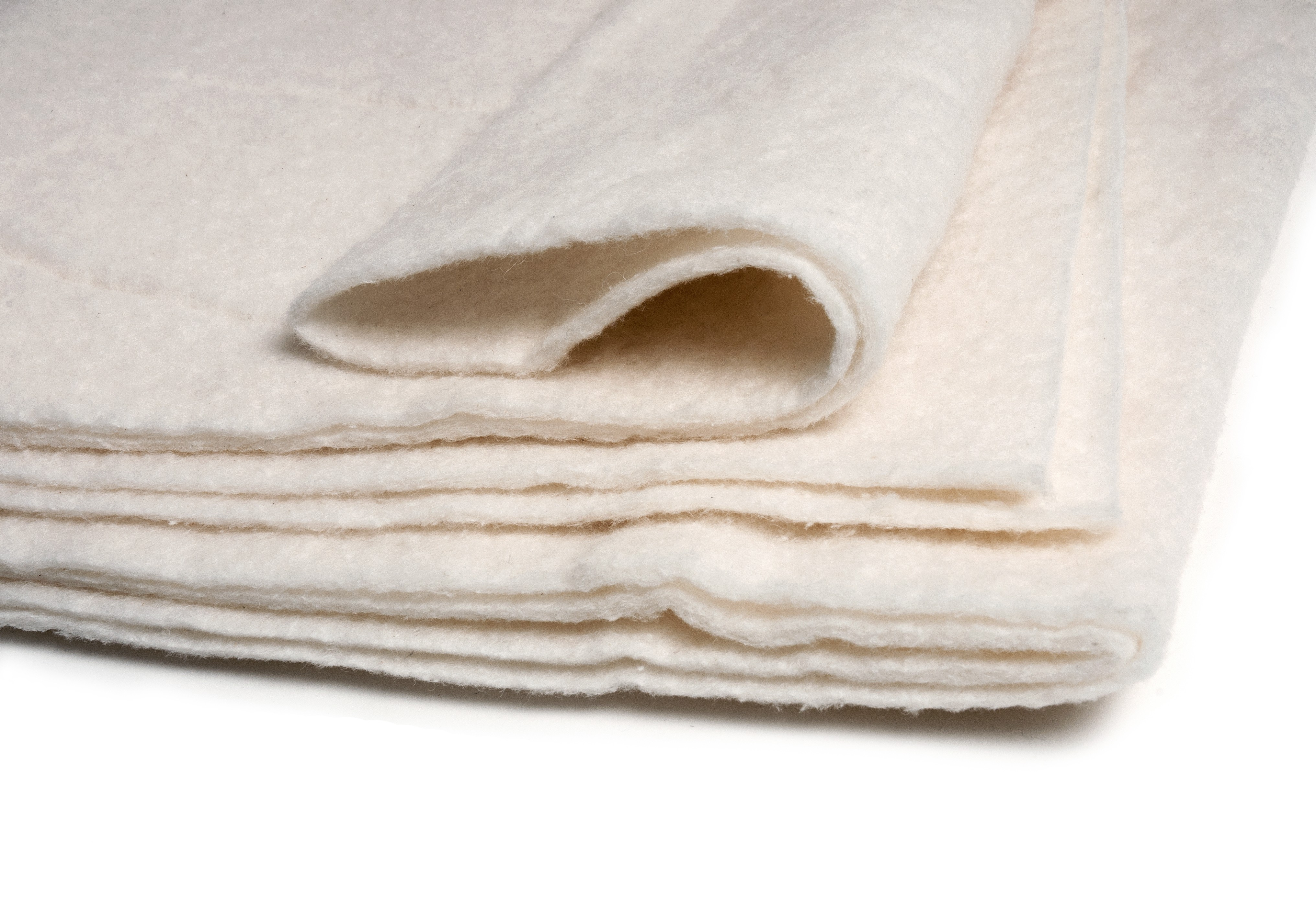 2PCS 45x 60 Inch 100/% Natural Cotton Quilt Batting for Quilting Fabric Sewing Thin Crib