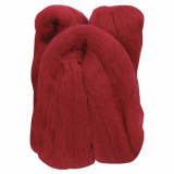 Natural Wool Roving: Red: 20g: