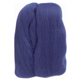 Natural Wool Roving: Blue: 20g: (6)