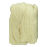 Natural Wool Roving: Off White: 20g: