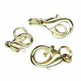 Gutermann - Spring Clasps  Pack of 3 - Gold Plated