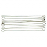 Gutermann - Eye Pins Pack 12 x 50mm - Silver Plated