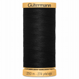 Gutermann Cotton Thread 250m Black