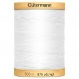 Col.5709 Gutermann Cotton 800m WHITE