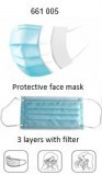 Prym Protective Fask Masks Tripe Layer Protection with Filter (Pack 10) Washable
