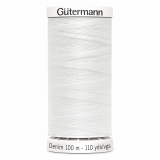 Gutermann Denim 100m Reel - White