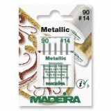 Madeira Sewing Machine Needles - Pack 5 Metallic Size 90/14