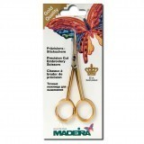 Madeira Embroidery Scissors Gold Plated Straight 12cm / 4.5in