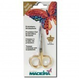 Madeira Machine Embroidery Scissors Gold Plated Double Curved 9cm / 3.5in