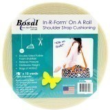 Bosal In R Form Shoulder Strap Cushioning Full Roll 1 Inch WIDE x 10 Yards (25.4mm x 9.2m) White