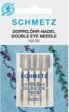 Schmetz Double Eyed Needle Size 80/12 - Pack 5