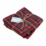Fat Quarter Bundle - Tartan 4 Designs 54 x 45cm Christmas Crafts