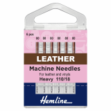 Hemline Leather Sewing Machine Needles - Size 110/18