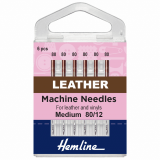Hemline Leather Sewing Machine Needles - Size 80/12