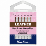 Hemline Leather Sewing Machine Needles - Assorted 90-100