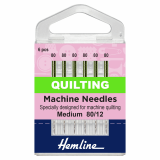 Hemline Quilting Sewing Machine Needles - Size 80/12