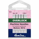 Hemline Overlock/Serger Machine Needles Type E - Size 80/12