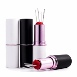 Hand Needle Pin Case in a Lipstick Style Case - 1 Case including 5 needles