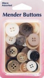 Mender Buttons: Assorted Colours: 40 Pieces