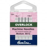 Hemline Overlocker/Serger Machine Needles Type F - Size 80/12
