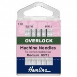 Hemline Overlock/Serger Machine Needles Type J - Size 80/12