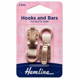 Hemline Hook and Bar Fastener Beige - 2 Pieces