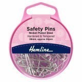 Hemline Safety Pins 38mm - Nickel - 24pcs
