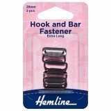 Hemline Hook and Bar Fastener Black - 20mm