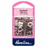 Hemline Eyelets Nickel - 7mm - 20pcs