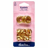 Hemline Eyelets Refill Pack of Gold/Brass - 14mm (G)