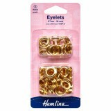 Hemline Eyelets Refill Pack of Gold/Brass - 8.7mm (E)