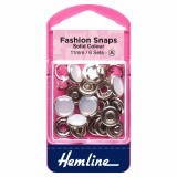 Hemline Fashion Snaps Pearl - Solid Top, 11mm - 6 Sets