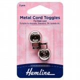 Hemline Adjustable Cord Toggles 6mm White