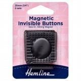 Hemline Magnetic Invisible Buttons 2 Pieces Black