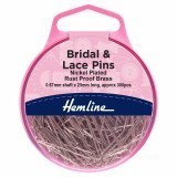 Hemline Pins Bridal and Lace 25mm Nickel 300 Pieces
