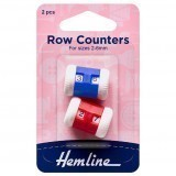 Hemline Row Counters  2-6mm Red/Blue 2 Pieces