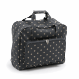 Sewing Machine Bag Carry Bag & Storage Bag For Sewing Machines Charcoal Polka Dot