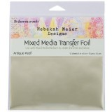 "Rebekah Meier - Transfer Foil Antique Pearl 6"" x 6"" x 12 sheets per Pack"