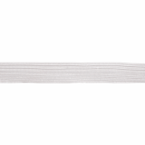 Braided Elastic White - 7mm Wide Multiple Lengths