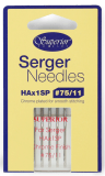 Superior Organ HAx1SP #75/11 Overlock / Serger Needles (Chrome)