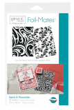 "Gina K Designs Foil-Mates Background Swirls & Flourishes 5.5"" x 8.5"""