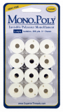 Superior MonoPoly CLEAR L Style Prewound Bobbins 12 x 200yds