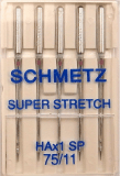 Schmetz HAx1SP Size 75/11 Super Stretch Sewing Machine Needles