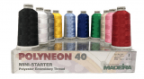 Madeira Polyester Polyneon 40 - 10 Colour Mini Starter Kit