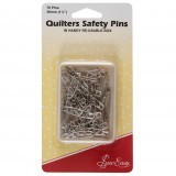 Sew Easy Open Plated Quilters Safety Pins - 30mm