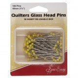 Sew Easy Quilters Glass Headed Pins - 50mm