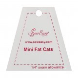 Sew Easy Mini Template Set - Fat Cats  2.58 x 2.5in