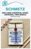Schmetz Twin Needle Size 70/10 1.6mm Gap (Pack 1)