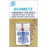 Schmetz Twin Embroidery Needle Size 75/11 2.0mm Gap (Pack 1)